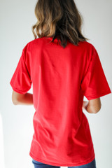 Red Chop Chop Tee Back View
