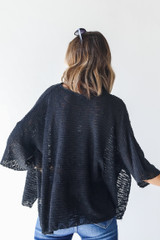 Oversized Sweater in Black Back View