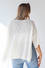 Oversized Sweater in Ivory Back View