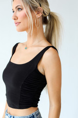 Black - Ruched Cropped Tank from Dress Up