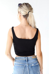 Ruched Cropped Tank Back View
