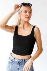 Ruched Cropped Tank Front View