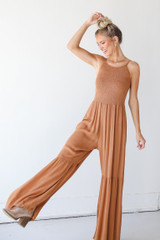 Camel - Smocked Jumpsuit from Dress Up