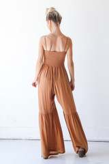 Smocked Jumpsuit Back View