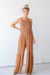 Smocked Jumpsuit Front View