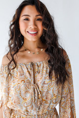 Close Up of a Paisley Romper