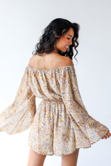 Paisley Romper Back View