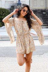 Paisley Romper Front View