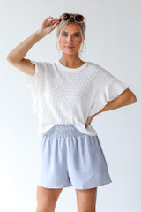 Smocked Shorts Front View