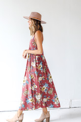 Floral Maxi Dress Side View
