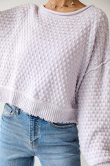 Lilac - Sweater Front View on model