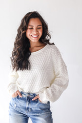 Ivory - Dress Up model wearing a Sweater with jeans