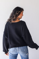 Sweater in Black Back View