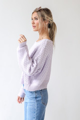 Sweater in Lilac Side View
