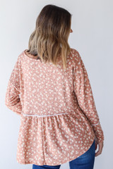 Floral Babydoll Top in Camel Back View