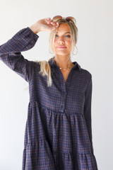 Flannel Babydoll Dress Front View