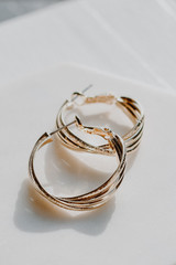 Gold - Twisted Hoop Earrings from Dress Up