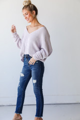 Distressed Skinny Jeans Side View
