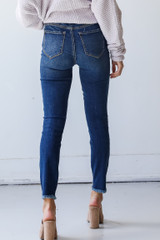 Distressed Skinny Jeans Back View