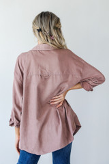 Shacket in Blush Back View