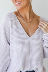 Lilac - Chenille Sweater from Dress Up