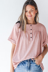 Blush - Henley Top from Dress Up