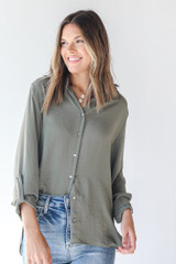 Olive - Button-Up Blouse from Dress Up