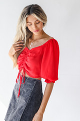 Ruched Blouse Side View
