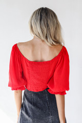 Ruched Blouse Back View