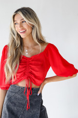 Ruched Blouse Front View