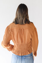 Blouse in Camel Back View