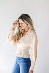 Blouse in Ivory Side View