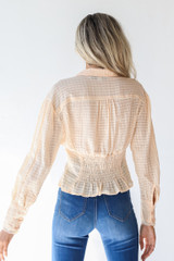 Blouse in Ivory Back View