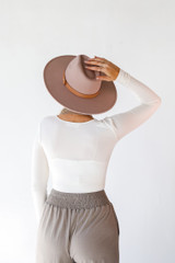 Everyday Bodysuit in Ivory Back View