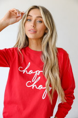 Red - Chop Chop Long Sleeve Tee from Dress Up