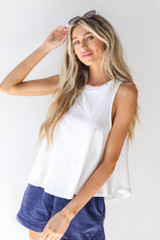 White - Dress Up model wearing an Everyday Tank