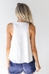 Everyday Tank in White Back View