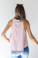 Everyday Tank in Mauve Back View