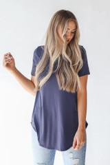 Charcoal - Dress Up model wearing an Everyday Jersey Tee