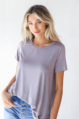 Grey - Everyday Jersey Tee Front View