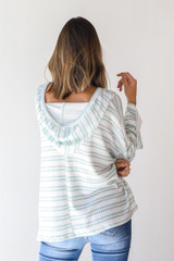 Striped Hoodie Back View