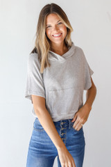 Heather Grey - Cropped Hoodie from Dress Up