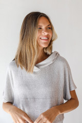 Cropped Hoodie Front View