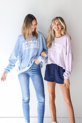Models wearing Georgia Oversized Pullovers