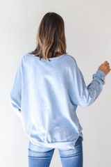Georgia Oversized Pullover in Blue Back View