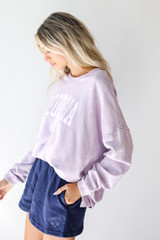 Georgia Oversized Pullover in Lavender Side View