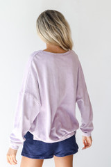 Georgia Oversized Pullover in Lavender Back View
