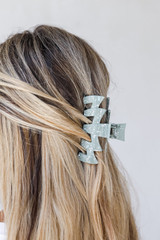 Olive - Model wearing a Claw Hair Clip