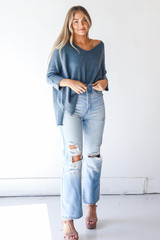 Dress Up model wearing High Waisted Dad Jeans