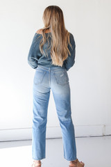 High Waisted Dad Jeans Back View